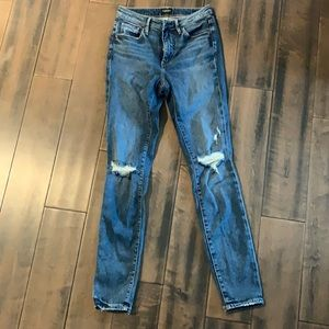 Silver Isbister Distressed Indigo Jeans